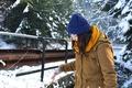 Картинка зима, девушка, шапка, куртка