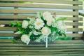 Картинка цветы, скамейка, букет, белые