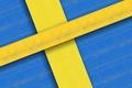 Картинка абстракция, краски, текстура, флаг, Швеция, брус