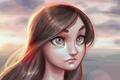 Картинка глаза, девушка, лицо, арт, Final Fantasy, tifa lockhart