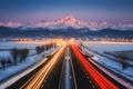Картинка Paolo Lombardi, photographer, шоссе, вечер, трасса, фары, движение