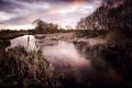 Картинка природа, река, вечер