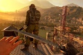 Картинка soldier, sunset, knife, stealth, first-person, Dying Light the following