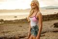 Картинка Girl, Model, Beach, Sunset, Portrait, Sunglasses, Makenna Binding