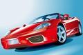 Картинка спорт, вектор, Ferrari, кабриолет