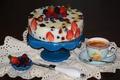 Картинка ягоды, кофе, торт