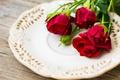 Картинка цветы, розы, блюдо