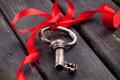 Картинка ключ, wood, key, ribbon