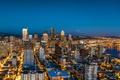 Картинка огни, дома, панорама, США, мегаполис, Seattle