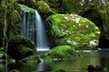 Картинка камни, Ирландия, Cladagh River, водопад, река, мох