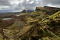 Картинка дорога, горы, тучи, озеро, дерево, Шотландия