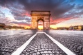 Картинка закат, город, Париж