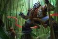 Картинка воин, арт, панда, hon, Heroes of Newerth, Nian Guardian, pandamonium
