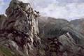Картинка пейзаж, природа, картина, Карлос де Хаэс, Скалы в Пахаресе