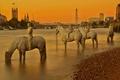Картинка мост, река, Англия, Лондон, башня, Темза, скульптура