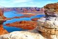 Картинка горы, природа, озеро, скалы, панорама