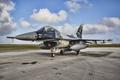 Картинка истребитель, аэродром, Fighting Falcon, F-16C