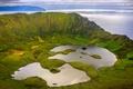 Картинка озеро, кратер, Португалия, Атлантический океан, остров Корво-Айленд