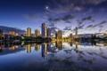 Картинка ночь, огни, отражение, Австралия, Queensland, Квинсленд