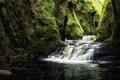 Картинка ручей, скалы, водопад, мох, Шотландия, ущелье, Finnich
