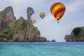 Картинка море, скалы, beach, sea, balloone, roks