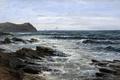Картинка картина, Скалы, морской пейзаж, Карлос де Хаэс