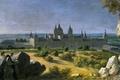 Картинка пейзаж, картина, Michel-Ange Houasse, Вид на Монастырь Эскориал