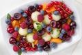 Картинка ягоды, малина, фрукты, абрикос, смородина, черешня, голубика
