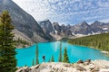 Картинка лес, озеро, Canada, landscape, lake, Banff National park, Moraine