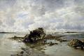 Картинка Потерпевшее Крушение Судно, Карлос де Хаэс, морской пейзаж, картина