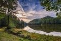 Картинка лес, деревья, озеро, Хорватия, Trakoscan