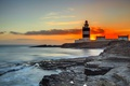 Картинка море, ночь, маяк