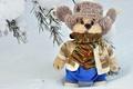 Картинка зима, снег, шапка, игрушка, шарф
