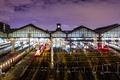 Картинка огни, Франция, Париж, рельсы, вокзал, Сен-Лазар