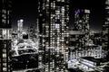 Картинка ночь, город, огни, Канада, Торонто, Toronto