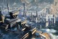 Картинка город, фантастика, планета, панорама, Star Citizen