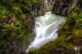 Картинка река, течение, Канада, каньон, Альберта, Jasper National Park, Maligne Canyon