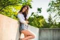Картинка лето, лицо, модель, волосы, шорты, Alyse M