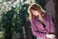Картинка лето, девушка, лицо, фон, волосы, профиль, рубашка