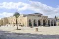 Картинка облака, пальма, площадь, храм, солнечно, Израиль, Jerusalem