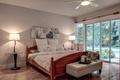 Картинка дизайн, стиль, лампа, кровать, подушки, спальня, панно