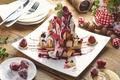 Картинка ягоды, крем, десерт, джем, бисквит