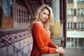 Картинка Orange, Blonde, View, Lips, Hair, Shirt, Ekaterina