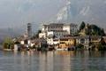 Картинка горы, остров, дома, Италия, коммуна, озеро Орта, Орта-Сан-Джулио