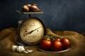 Картинка фон, овощи, весы
