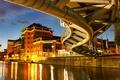 Картинка мост, река, Англия, дома, Бристоль