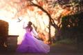 Картинка голубь, платье, девочка, Flight of the Dove