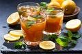Картинка лимон, чай, напиток, мята