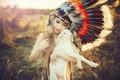Картинка лето, девушка, лицо, красота, перья, прелесть, овечка