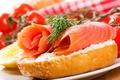 Картинка помидоры, лосось, Хлеб